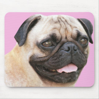 Pug With Tongue Sticking Out Mousepad