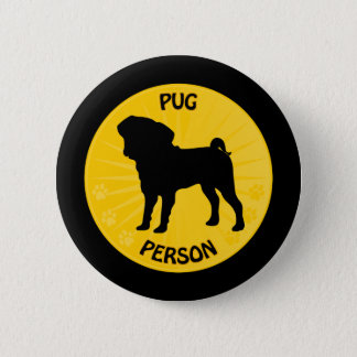 Pug Xing 2 Inch Round Button