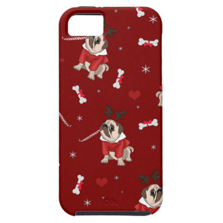 Pug Xmas Pattern iPhone 5 Case