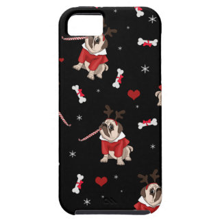Pug Xmas Pattern iPhone 5 Cases