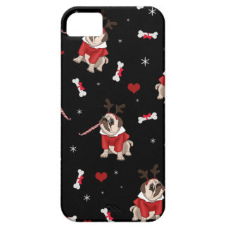 Pug Xmas Pattern iPhone 5 Cover
