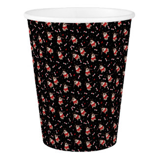 Pug Xmas Pattern Paper Cup
