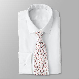 Pug Xmas Pattern Tie