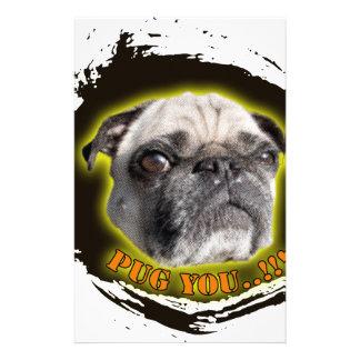 Pug you...! stationery design