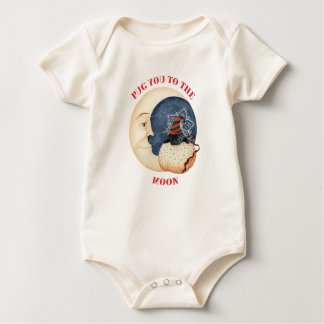 Pug You To The Moon! Baby Bodysuit