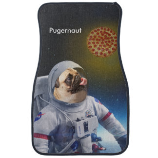 Pugernaut - Pug in Space Car Mat