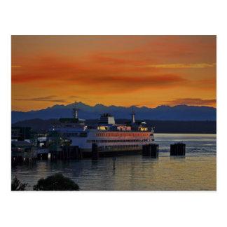 Puget Sound Sunset Postcard