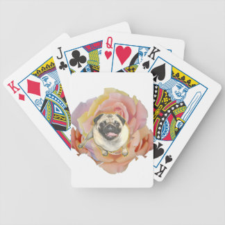PugFlower Bicycle Playing Cards