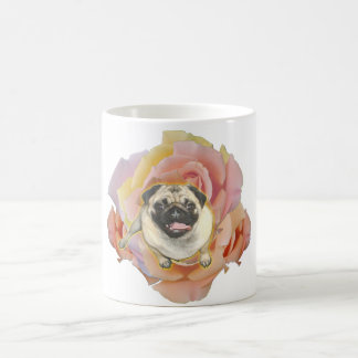PugFlower Ceramic Coffee Mug
