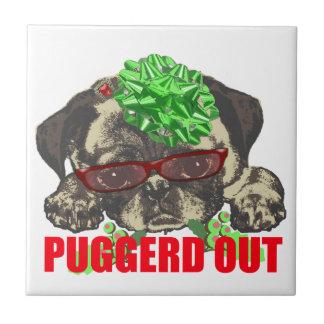 Puggerd out pug pup tile