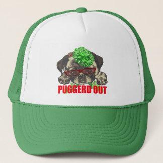 Puggerd out pug pup trucker hat