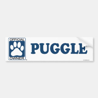 Puggle Blue Bumper Sticker