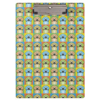 Puggle Dog Cartoon Pop-Art Clipboard