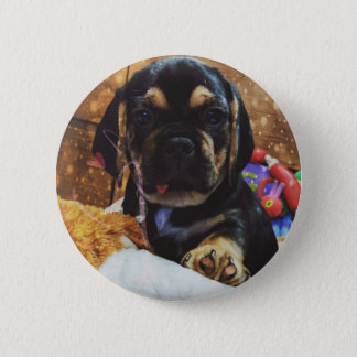 Puggle love 2 inch round button