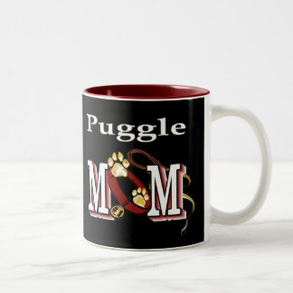 Puggle Mom Gifts Two-Tone Coffee Mug