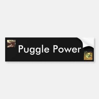 Puggle Power Bumper Sticker
