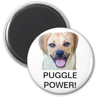 Puggle Power! 2 Inch Round Magnet
