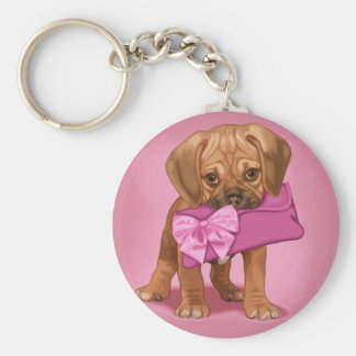 Puggle Puppy and Clutch Keychain