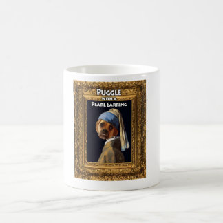 Puggle with a Pearl Earring Mug
