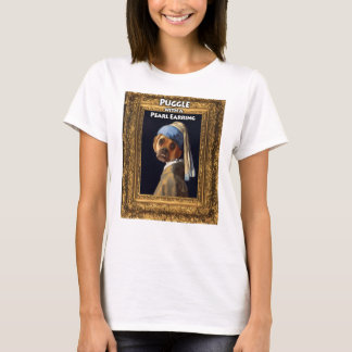 Puggle with a Pearl Earring T-shirt