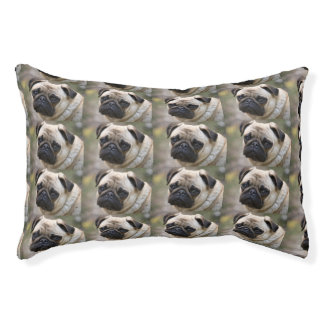 Puggy McPugface Small Dog Bed