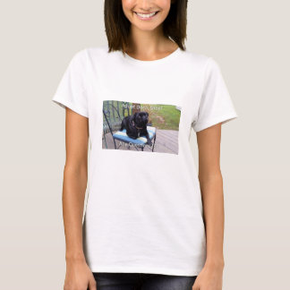 "Puggy the Black ""Adopt Don't Shop"" T-Shirt"