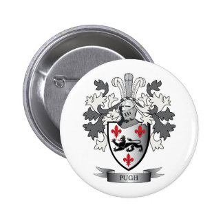 Pugh Family Crest Coat of Arms 2 Inch Round Button