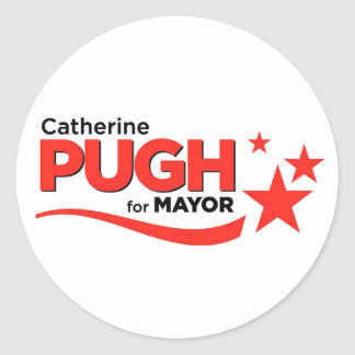 Pugh for Mayor Stickers