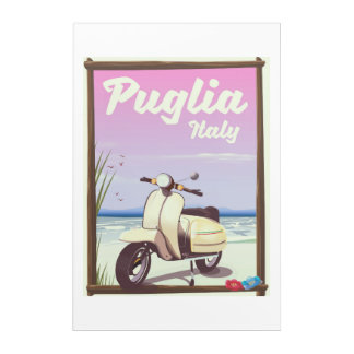 Puglia Italy Travel poster. Acrylic Print