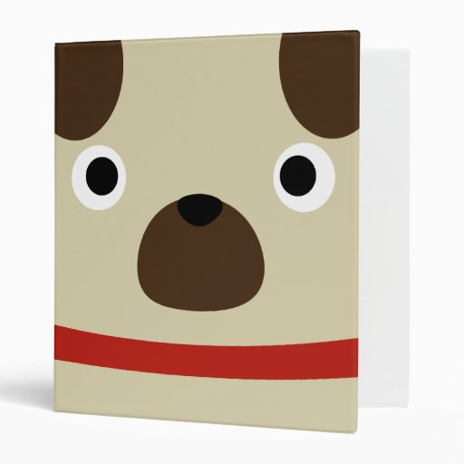 Pugly Pug Vinyl Binder