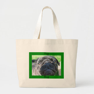 pugmug large tote bag