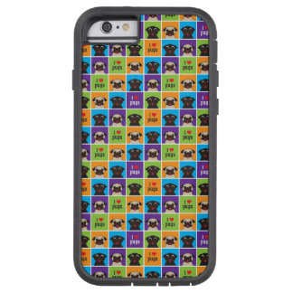 Pugnacious Gifts I Love Pugs iphone 6 Case