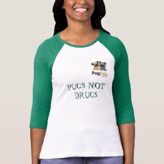 PugPals, Inc. Ladies 3/4 Sleeve Raglan (Fitted) T-Shirt