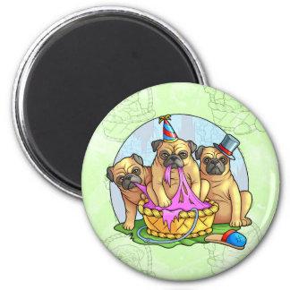 pugs 2 inch round magnet