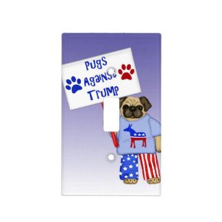 Pugs against Trump Light Switch Cover