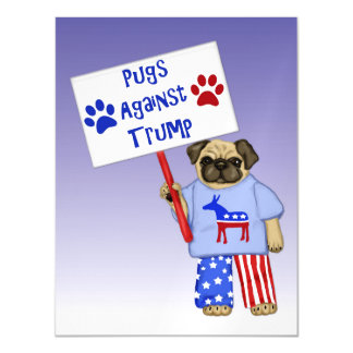 Pugs against Trump Magnetic Card