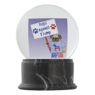 Pugs against Trump Snow Globe