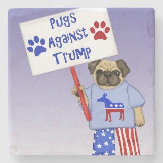 Pugs against Trump Stone Coaster