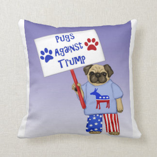 Pugs against Trump Throw Pillow