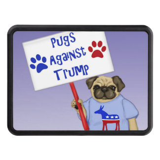 Pugs against Trump Trailer Hitch Cover