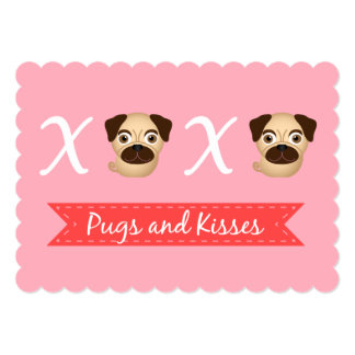 Pugs and Kisses Valentine's Day Greeting Card