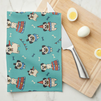 Pugs at the Circus Kitchen Towel