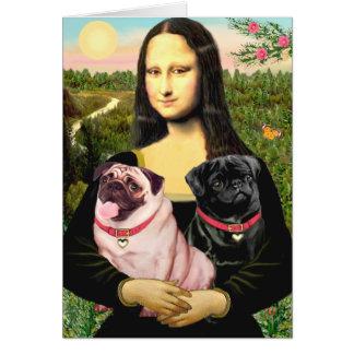 Pugs (Fawn + Blk) - Mona Lisa Card