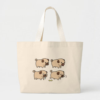 PUGS For Life! Large Tote Bag