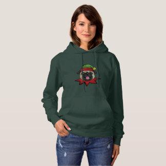 Pugs Hoodie Funny Elf Christmas Gift Shirt