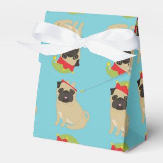 Pugs in Elf Hats Favor Box