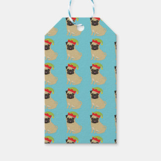Pugs in Elf Hats Gift Tags