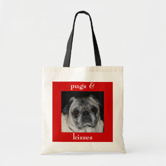 Pugs & Kisses Budget Tote Bag