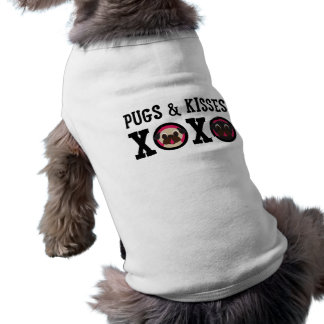 Pugs & Kisses XOXO Pug Dog Shirt