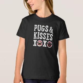 Pugs & Kisses XOXO T-shirt White Text T-shirt